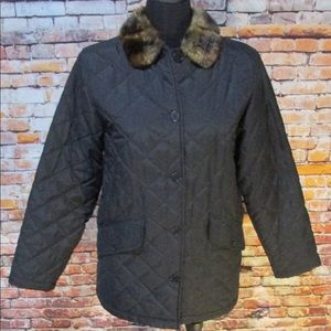 Ralph Lauren Fur Collar Puffer Coat